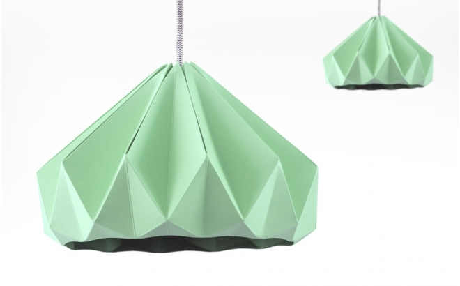 lampe origami enfants chesnut snowpuppe (menthe)