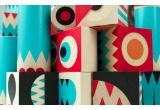 juguete de bloques de construccion de madera stack and scare 1 por uncle goose