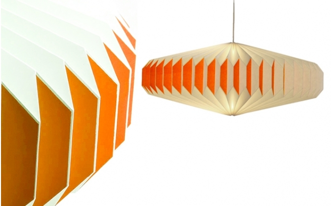 akura A orange baby kids origami light lamp by sentou