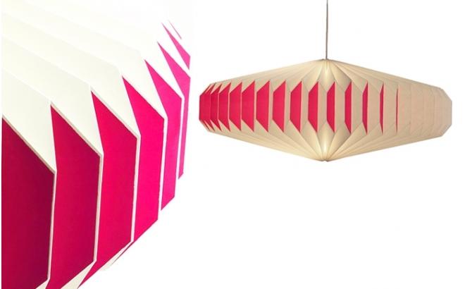 akura A pink baby kids origami light lamp by sentou