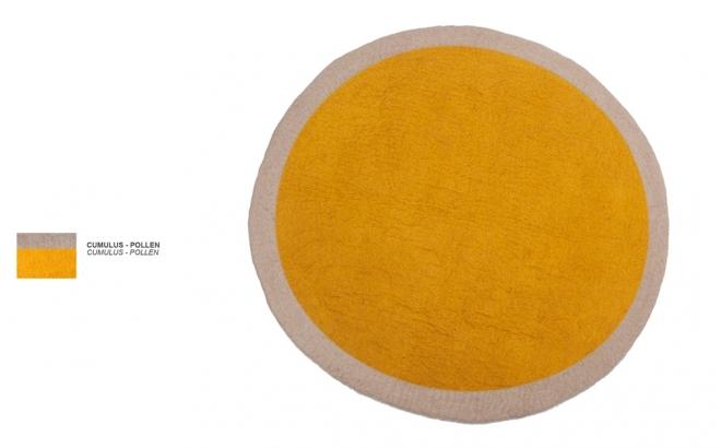 alfombra infantil redonda de fieltro polen Lumbini por Muskhane
