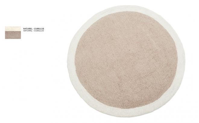 alfombra infantil redonda de fieltro natural beige Lumbini por Muskhane