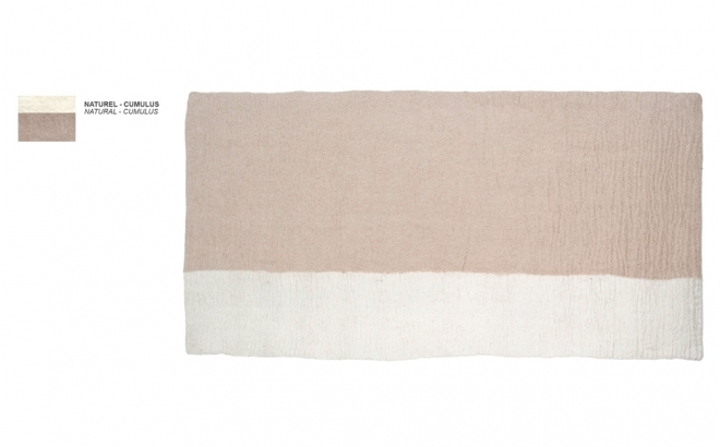 tapis enfant rectangle en feutre beige naturel Potala par Muskhane