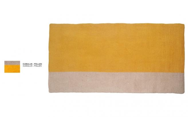 alfombra infantil rectangulo de fieltro polen Potala por Muskhane