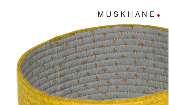 corbeilles enfants reversibles feutre jaune S par Muskhane