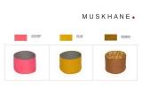 cestas infantiles reversibles de fieltro S por Muskhane