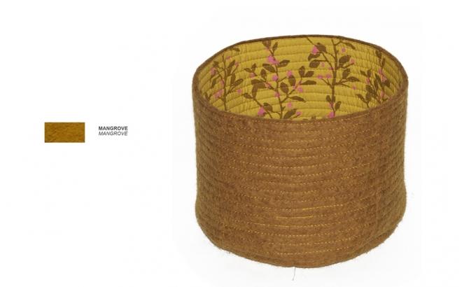 cestas infantiles reversibles de fieltro marron S por Muskhane