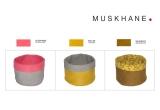 cestas infantiles reversibles de fieltro M por Muskhane