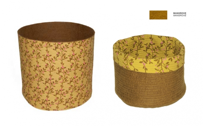 kids brown felt reversible baskets M by Muskhane