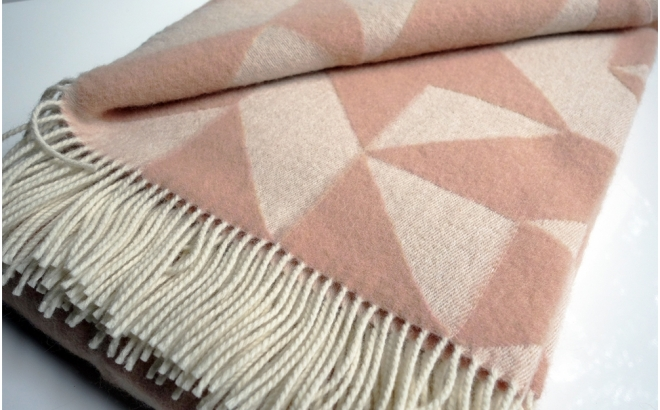 couverture laine twist a twill (rose clair)