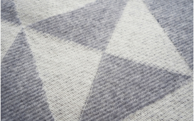 wool blanket twist a twill (light grey)