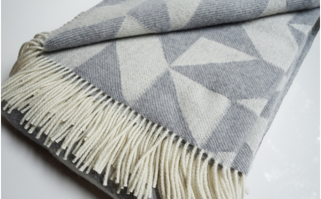 couverture laine twist a twill (gris clair)