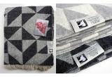 couverture laine twist a twill (gris foncé)