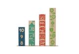 bloques números de madera infantiles por uncle goose
