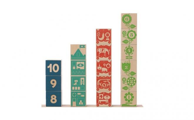 cubes numéros en bois enfants par uncle goose