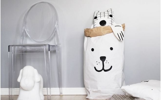paper storage bag bear by tellkiddo