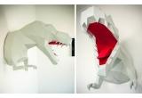 trophée mural origami dino pour chambre enfant garçon