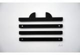 animal ear wood print hangers for kids