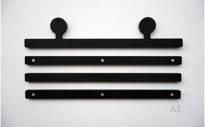perchas colgadores de Pósters Infantiles de madera con antenas de robot
