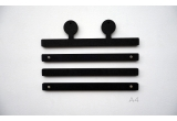 robot antennas wood print hangers for kids