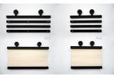 porte affiche en bois avec antennes de robot earwigo