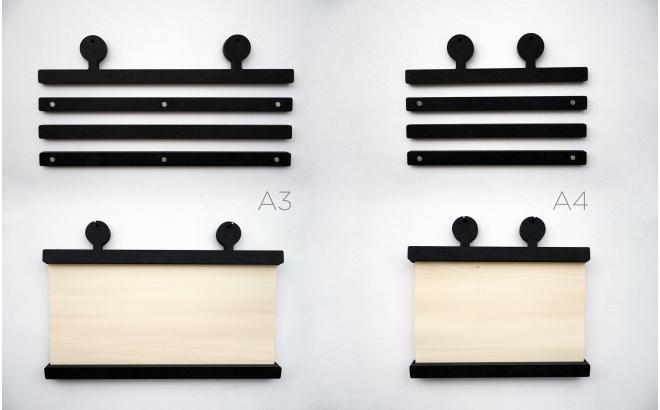 robot antenna wood poster hangers earwigo