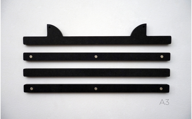 perchas colgadores de Pósters Infantiles de madera con orejas animales