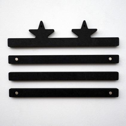 wooden art print hanger earwigo stars by e-glue