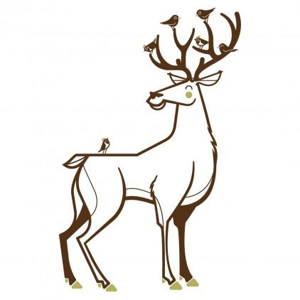 vinilo infantil ciervo tema Animales del Bosque