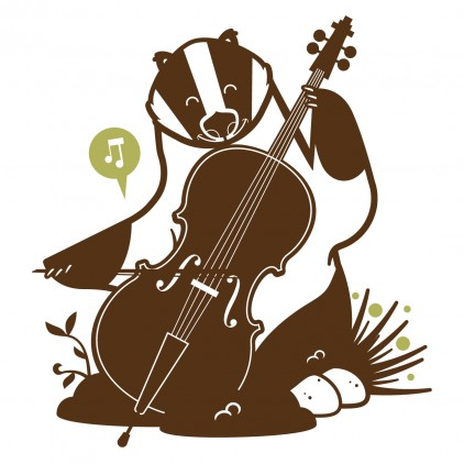 badger kids wall decals, forest animals theme room