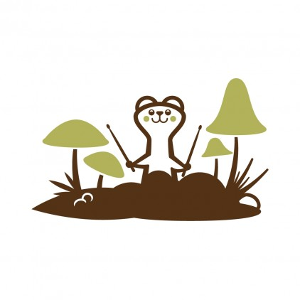 vinilos infantiles animales del bosque, vinilo comadreja