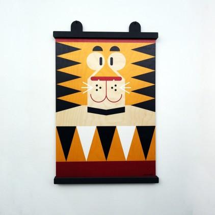 wooden poster print minipic tiger