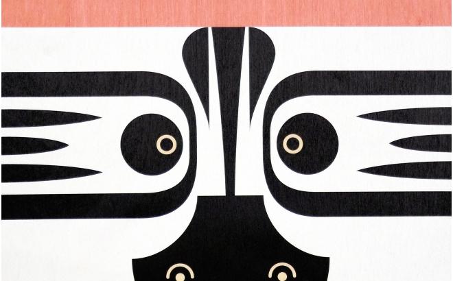 Lámina Póster infantil de madera minipic cebra