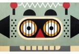 affiche enfant en bois minipic Robot