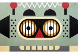Lámina Póster infantil de madera minipic Robot