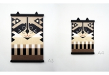 wooden poster print minipic raccoon