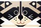 Lámina Póster infantil de madera minipic mapache