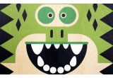 wooden poster print minipic crocodile