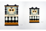 wooden poster print minipic owl
