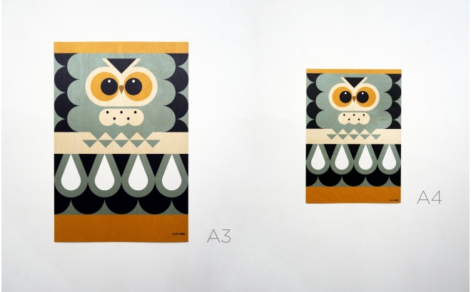 Animal Wood Poster Print for Kids