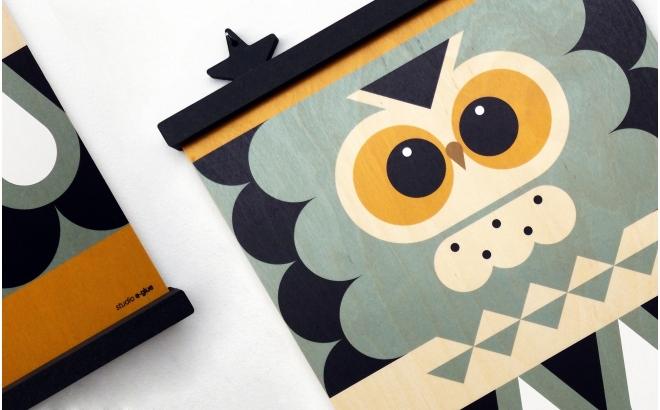 cintre affiches en bois Earwigo Etoiles