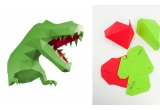 origami animal dino trophy L green and red for kids boys room