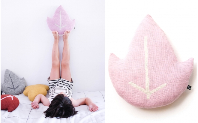 leaf pillow for kids room and nursery by Main Sauvage