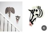 Trophées Animaux en Laine par Fiona Walker, Zebre