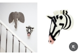 Felt Animal Heads by Fiona Walker, Zebra