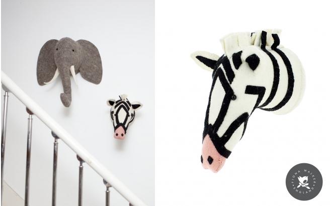 Trofeos Animales de Peluche por Fiona Walker, Cebra