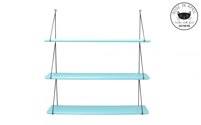 Babou shelves aqua blue by Rose in April
