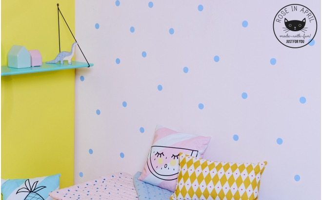 estanterías de pared para habitación infantil Rose in April