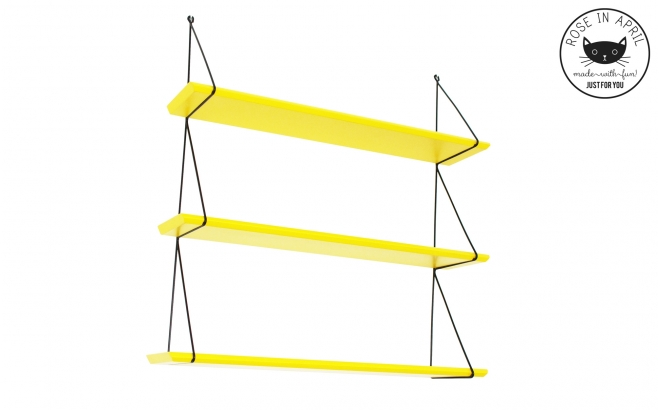 Babou shelves yellow by Rose in April