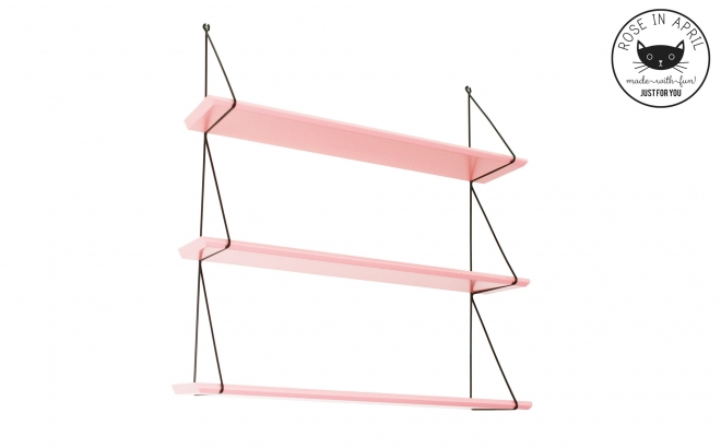 Babou shelves coral pink by Rose in April